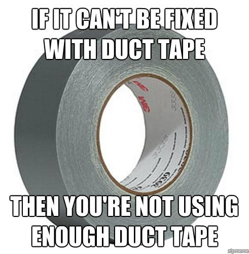 bushcamping, tips, tricks, ductape, cockatours