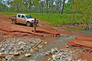 Cape York road with washout