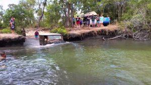 Deep water crossing at Nolan's Brook
