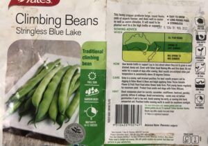 packet of bean seeds