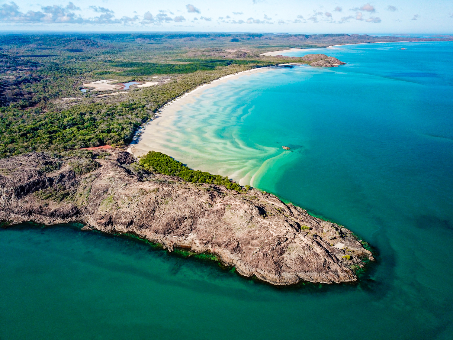 aerial image of tip of cape york
